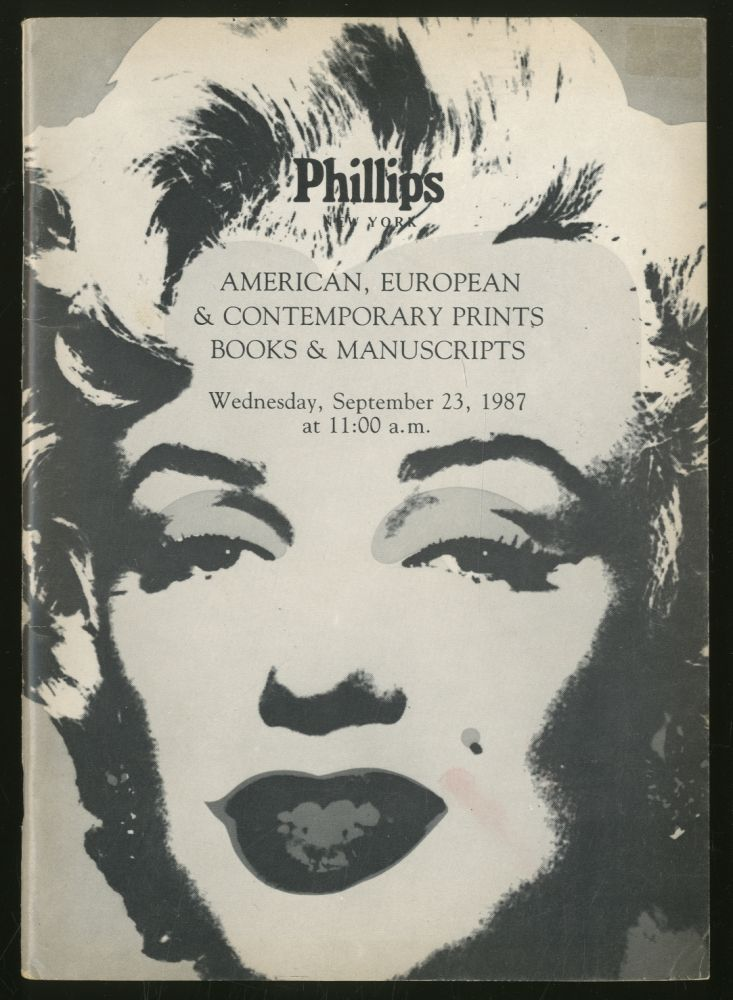 American, European & Contemporary Prints, Books, Maps, Autograph Letters, & Historical Documents: Wednesday September 23, 1987