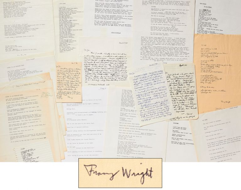 A Collection of Franz Wright Poems and Letters to a Fellow Poet. Franz WRIGHT.