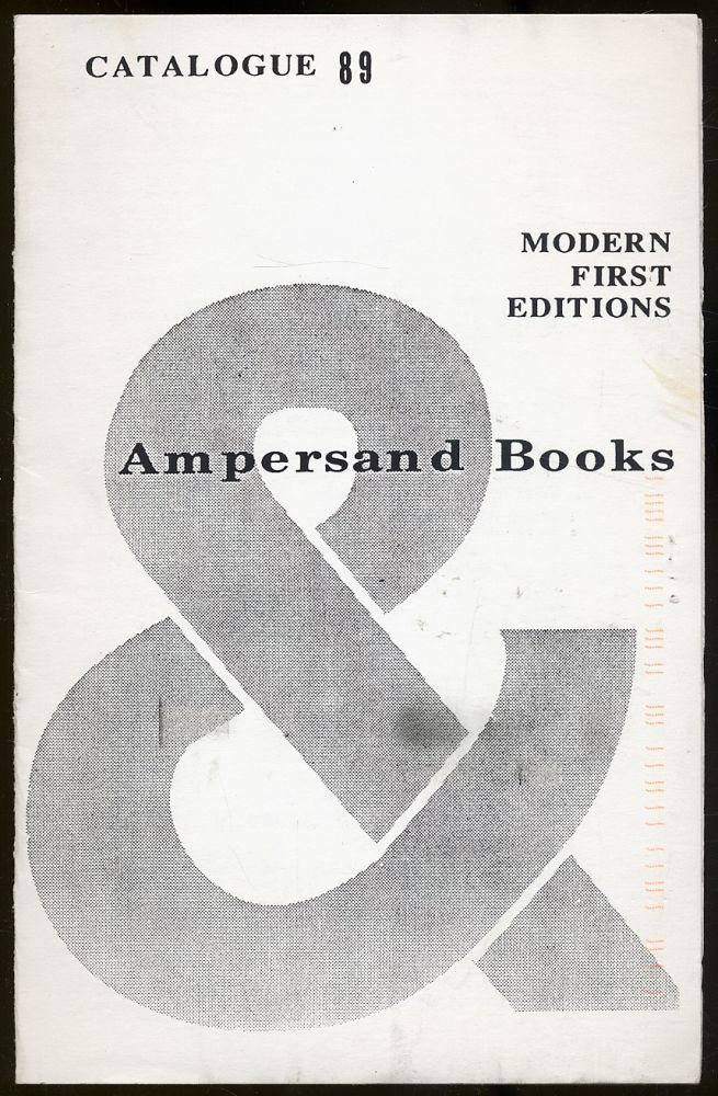 Ampersand Books: Catalogue 89, Modern First Editions