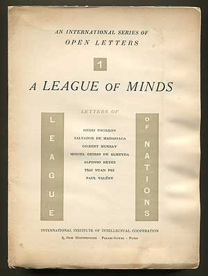 A League of Minds (Issue number 1). Gilbert MURRAY, Paul Valery.