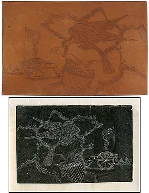 [Engraved Copper Plate]: Bald Eagle Printing Plate. Jacob STADELMAN.