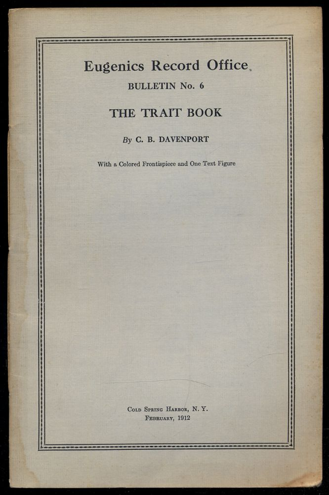 The Trait Book. Charles B. DAVENPORT.