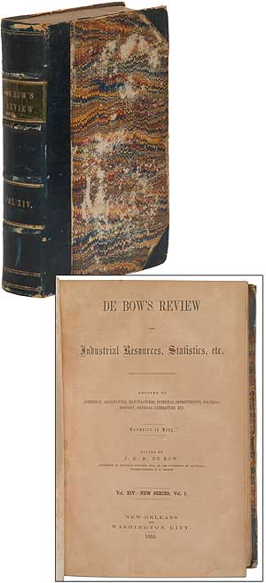De Bow's Review and Industrial Resources, Statistics, &c. Devoted to Commerce, Agriculture,...
