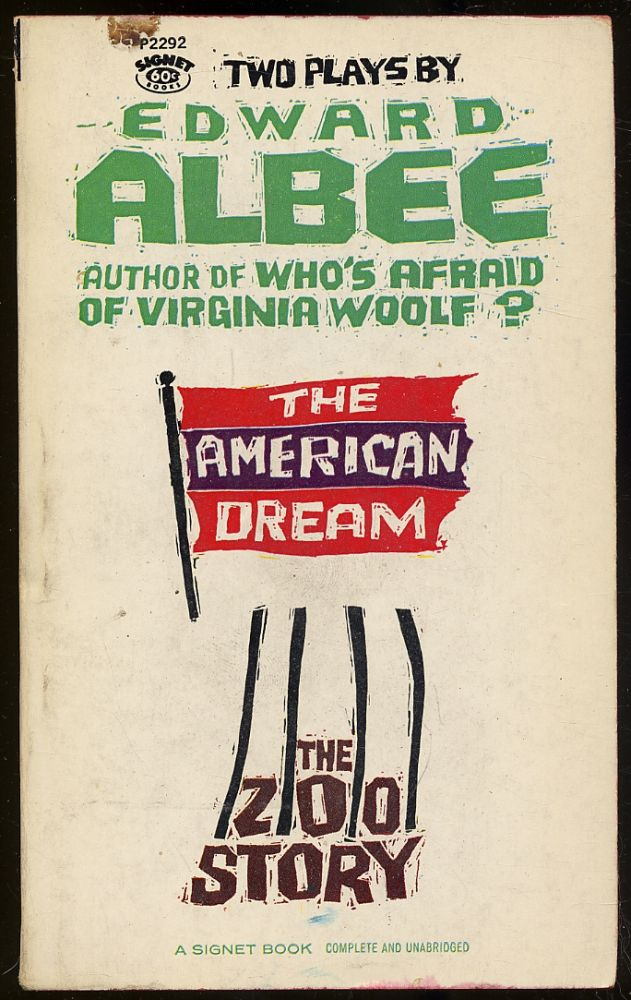 The American Dream and The Zoo Story. Edward ALBEE.