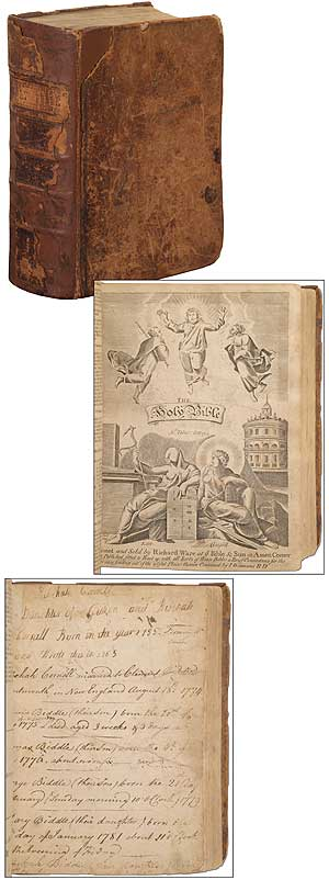 The Holy Bible, containing the Old and New Testaments [bound with] The Apocrypha, The Book of Common Prayer, Index and Tables, and Concordance. Thomas A. Biddle.