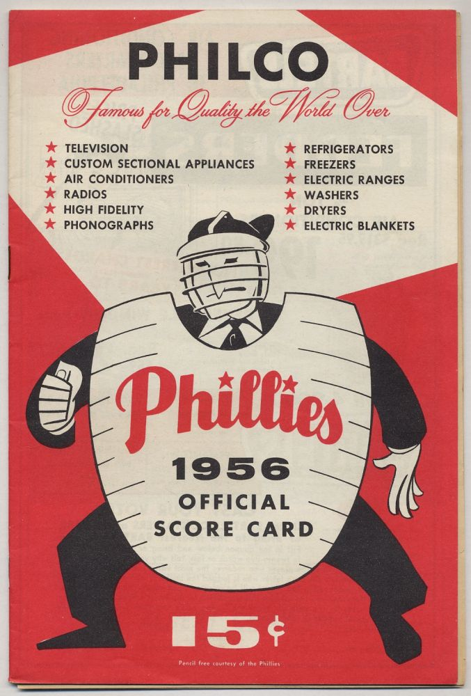 Phillies 1956 Official Score Card