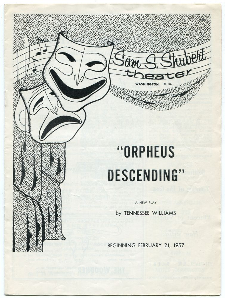 [Playbill]: Orpheus Descending. Tennessee WILLIAMS.
