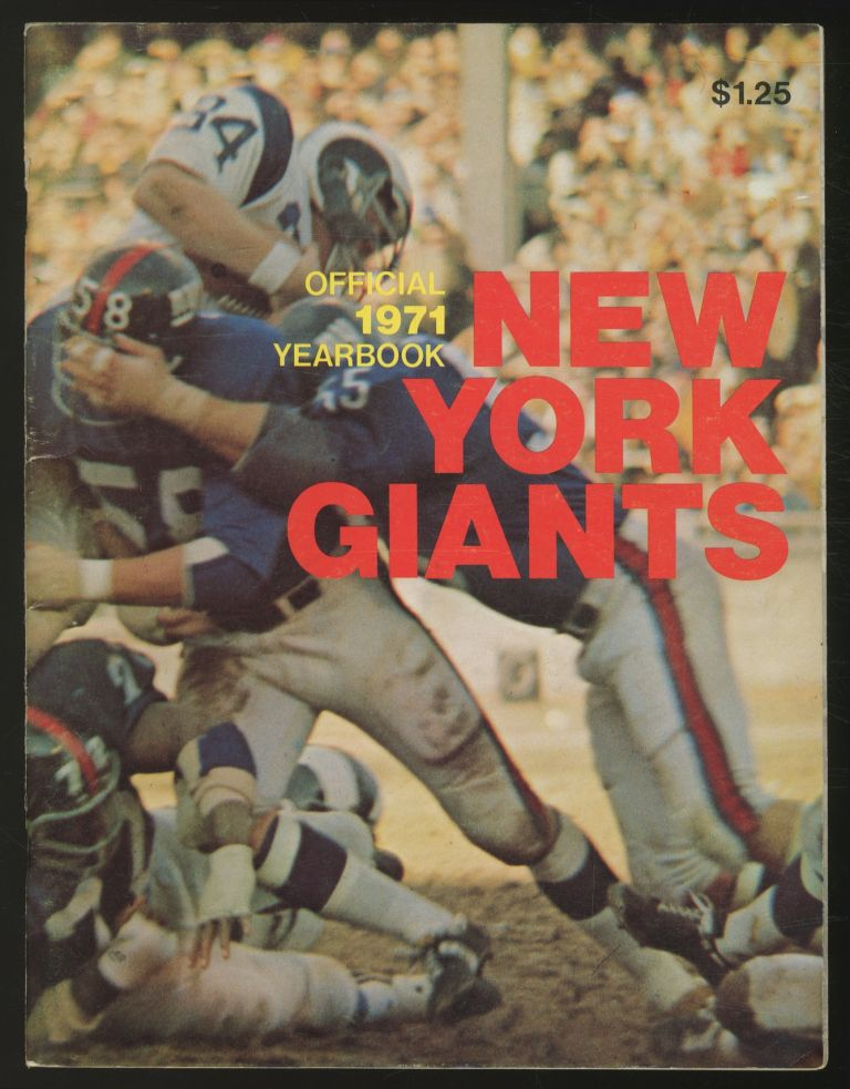 New York Giants Official 1971 Yearbook