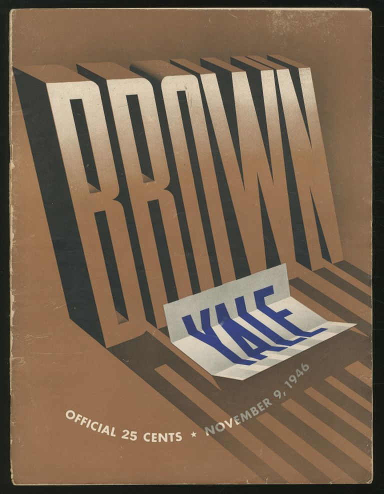 Brown vs. Yale: Official Football Program: Yale Bowl, Saturday, November 9, 1946