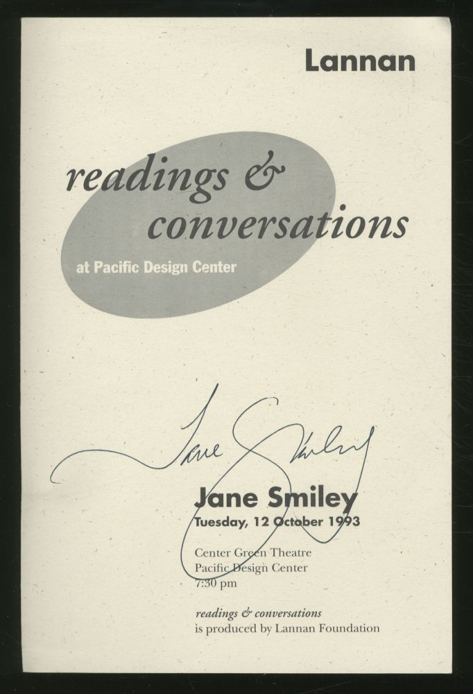 Readings & Conversations at Pacific Design Center. Jane SMILEY.