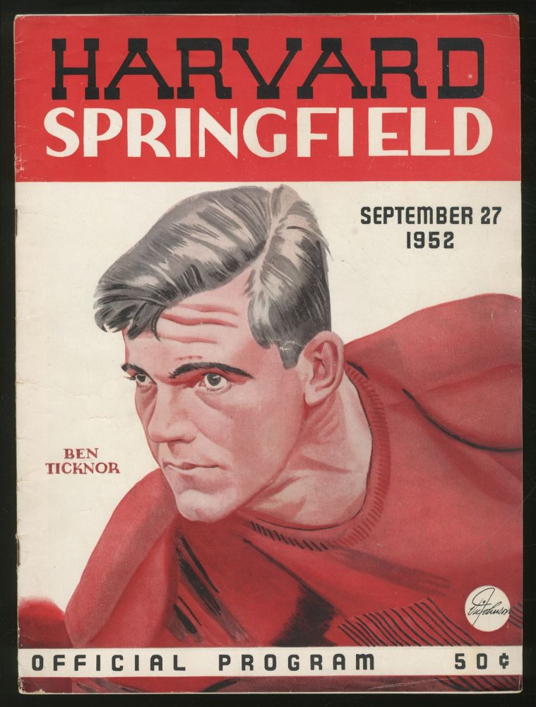 Harvard A.A. News: Harvard-Springfield Game, September 27, 1952: Official Program. W. Henry JOHNSTON.
