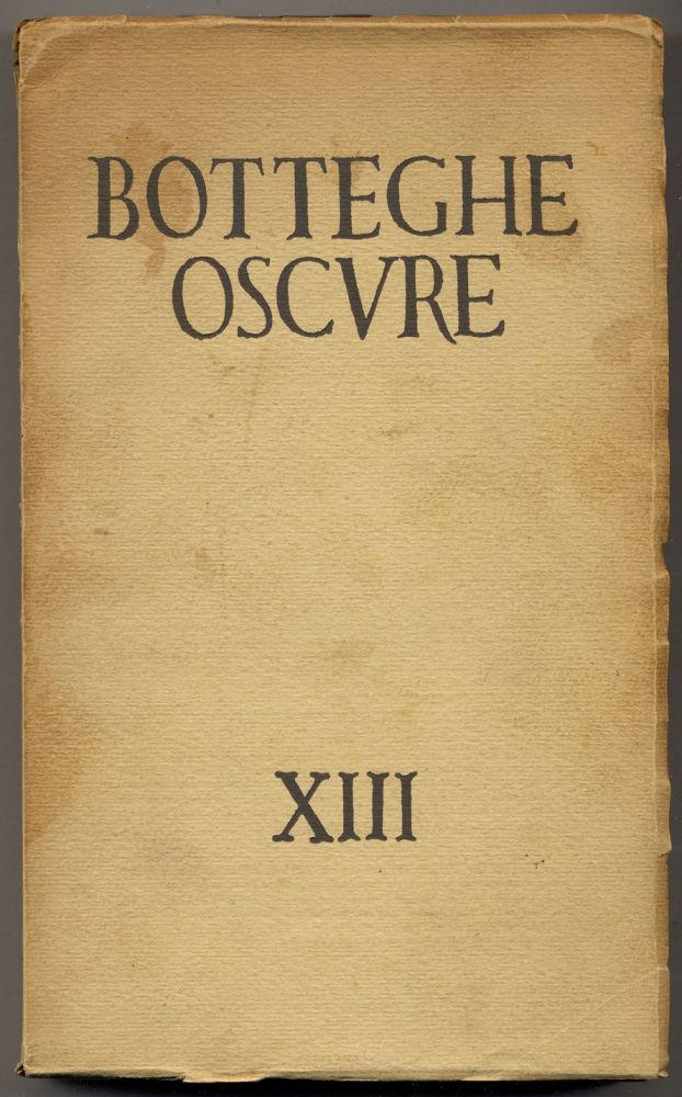 Botteghe Oscure XIII