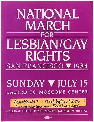 [Poster]: National March for Lesbian/Gay Rights