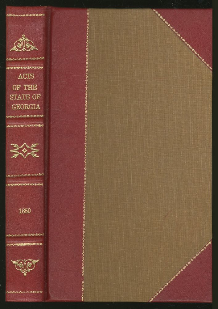 Acts of the State of Georgia, 1849-1850
