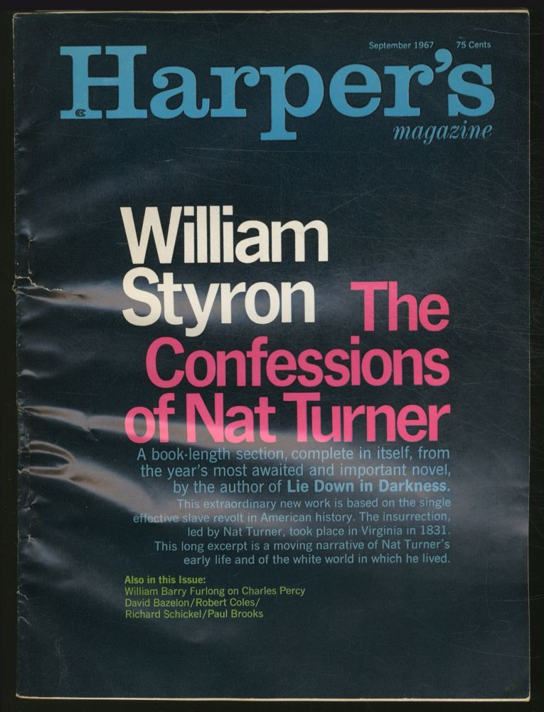 """The Confessions of Nat Turner"" [story in] Harper's Magazine - September 1967"