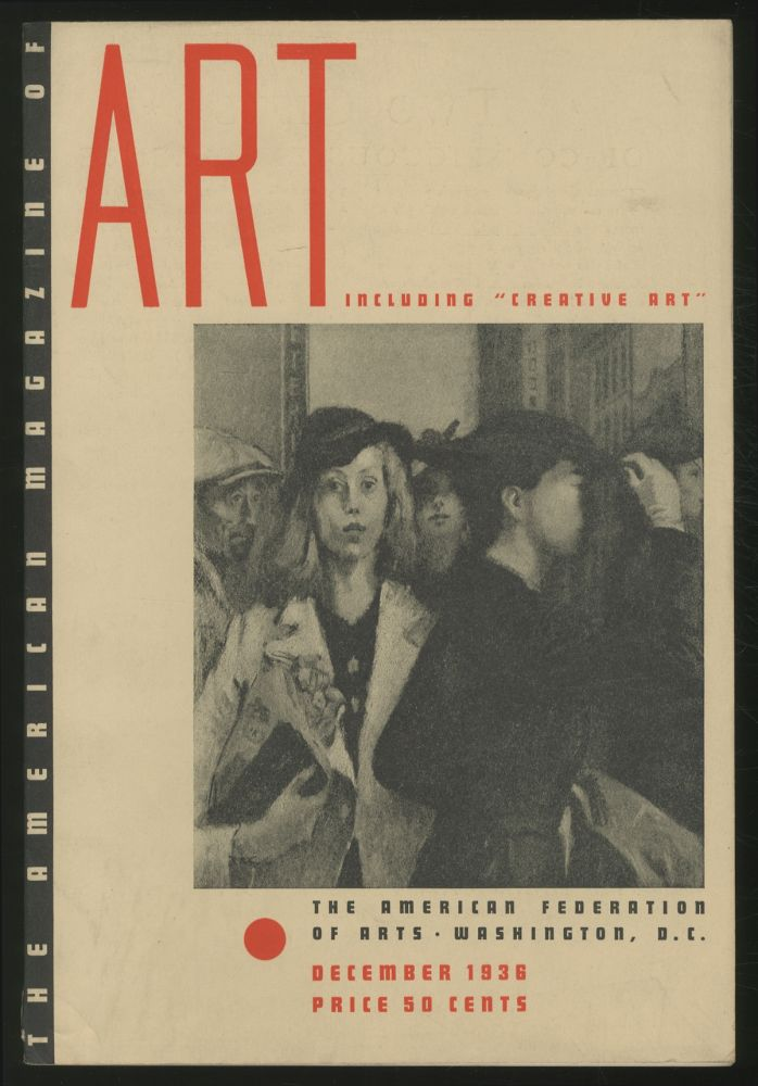 The American Magazine of Art: December 1936, Volume 29, Number 12