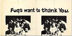 [Broadside]: Fugs want to Thank You. The Fugs.