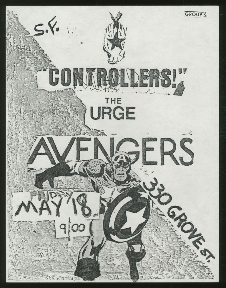 [Punk Flyer]: 330 Grove St. Flyer. Controllers! Avengers, The Urge.