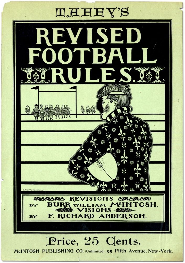 Broadside or poster]: Taffy's Revised Football Rules