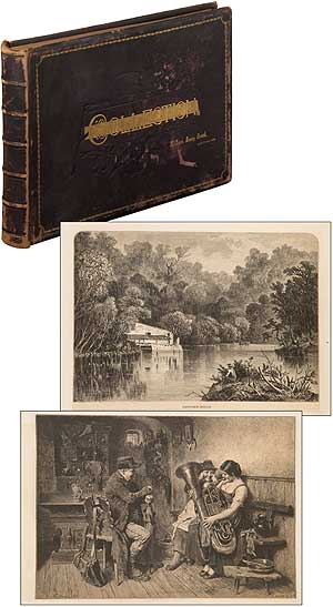 """[Scrap Book]: A Collection of Wood-Engraved Scenic """"Hudson River School"""" American Landscapes and Related Views (circa 1888). George William CHILDS, William Henry Beard, John Wanamaker."""
