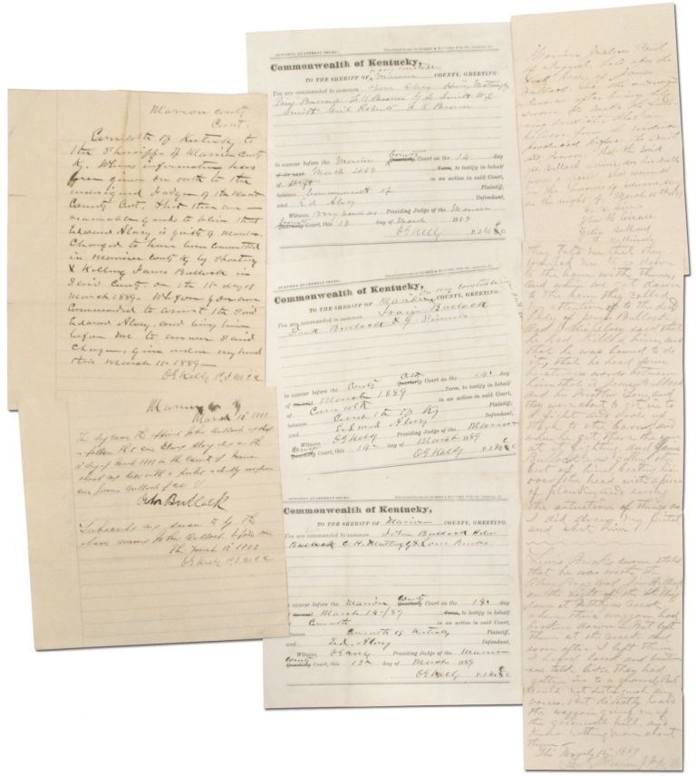 Court Documents for a Marion County, Kentucky Murder Case in 1889