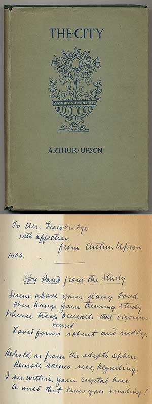 The City: A Poem-Drama and Other Poems. Arthur UPSON.