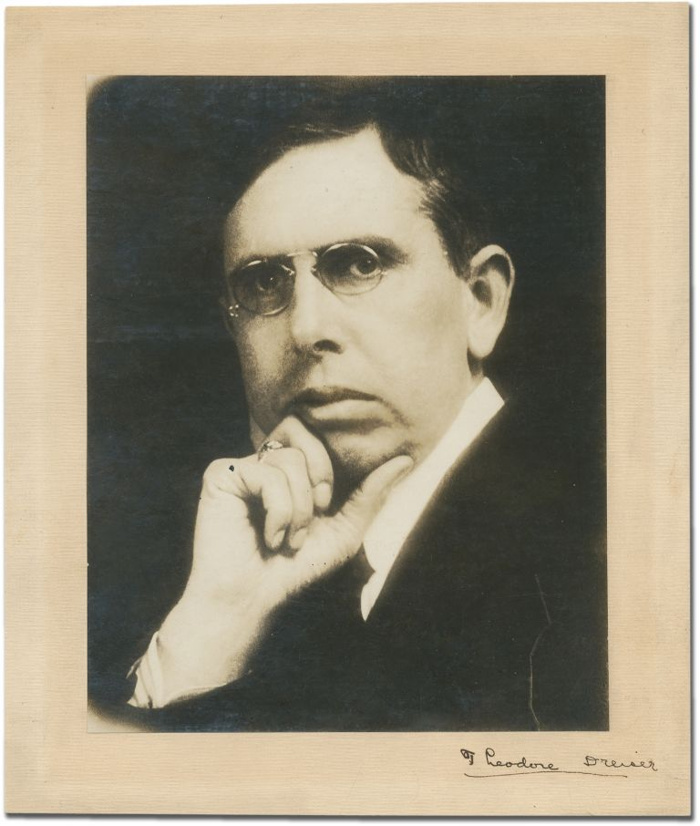 Signed Photograph. Theodore DREISER.