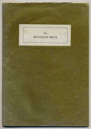 For Reynolds Price 1 February 1983