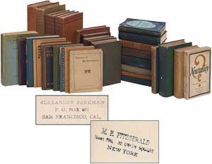 Book from the Library of M. Eleanor Fitzgerald. Mary Eleanor FITZGERALD, Alexander BERKMAN, Susan Glaspell.
