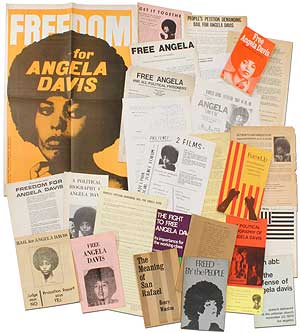 Collection of Pamphlets, Books and Broadsides Related to Angela Davis. Angela DAVIS.