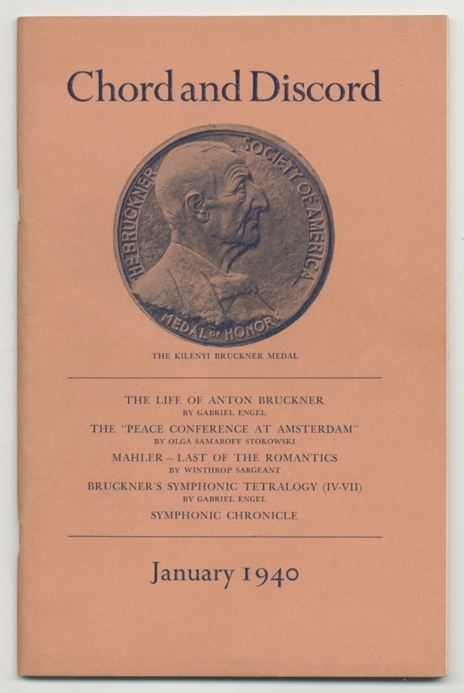 Chord and Discord: A Journal of Modern Musical Progress: January, 1940, Vol. 2, No. 1