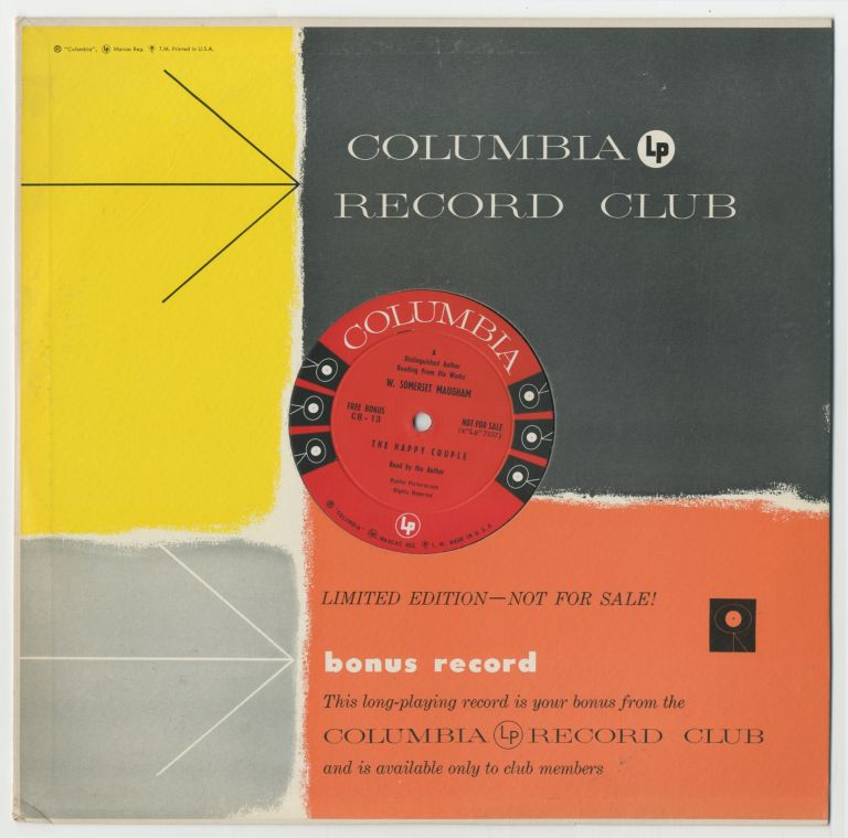 [Vinyl Record]: A Distinguished Author Reading from His Works. W. Somerset MAUGHAM.