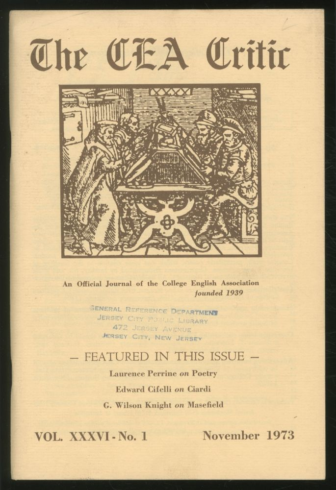 The CEA Critic: An Official Journal of The College English Association: November 1973, Volume 36, Number 1