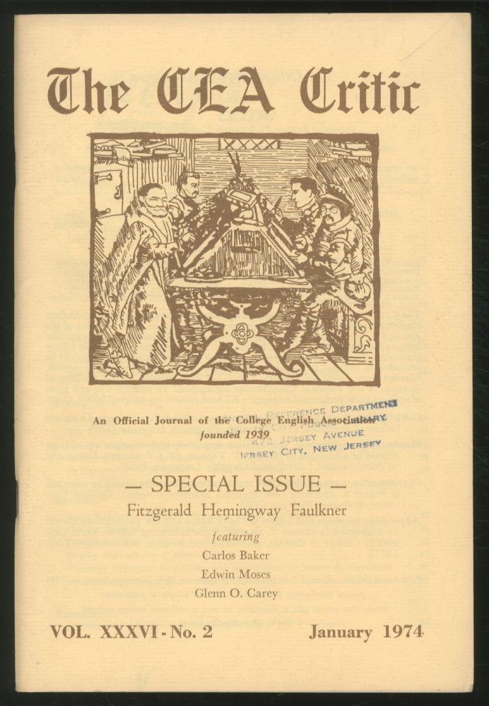 The CEA Critic: An Official Journal of The College English Association: January 1974, Volume 36, Number 2