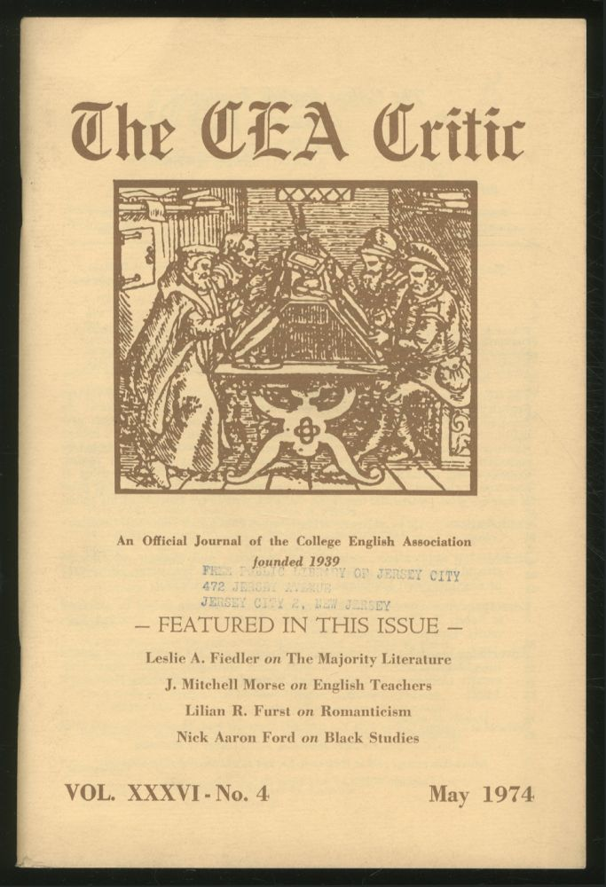 The CEA Critic: An Official Journal of The College English Association: May 1974, Volume 36, Number 4