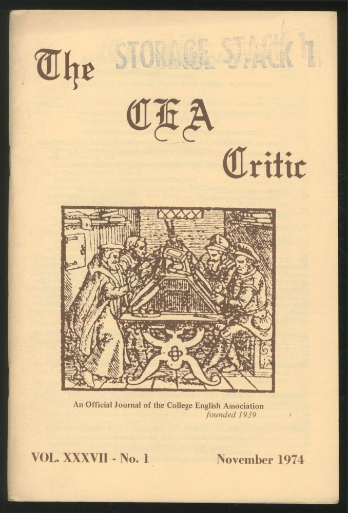 The CEA Critic: An Official Journal of The College English Association: November 1974, Volume 37, Number 1