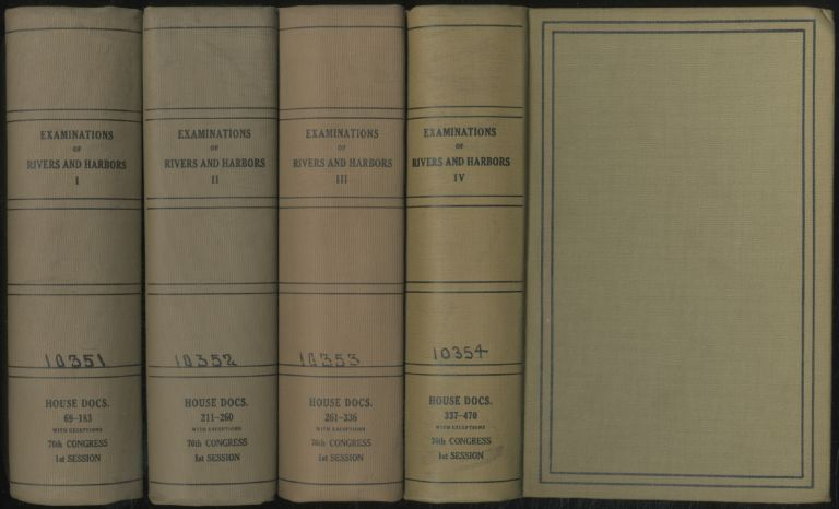 Examinations of Rivers and Harbors, 1939 (Volumes 1-4