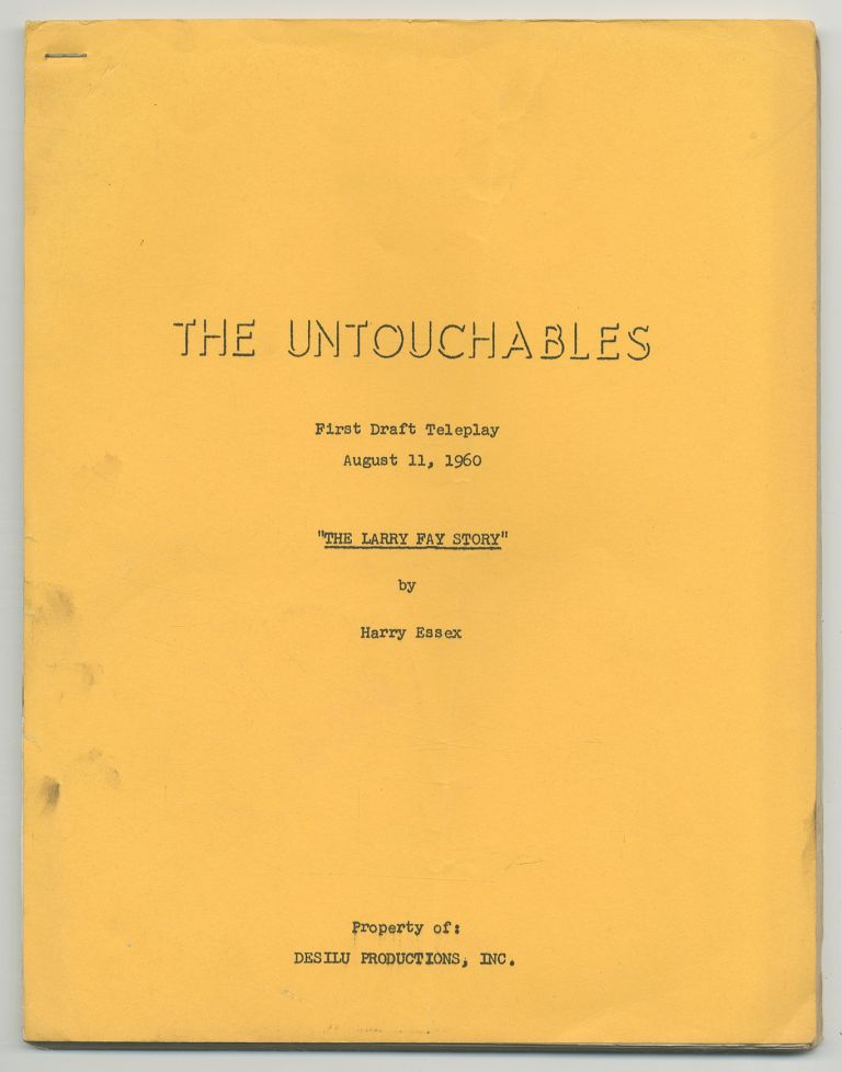 "[Screenplay]: The Untouchables: ""The Larry Fay Story"""