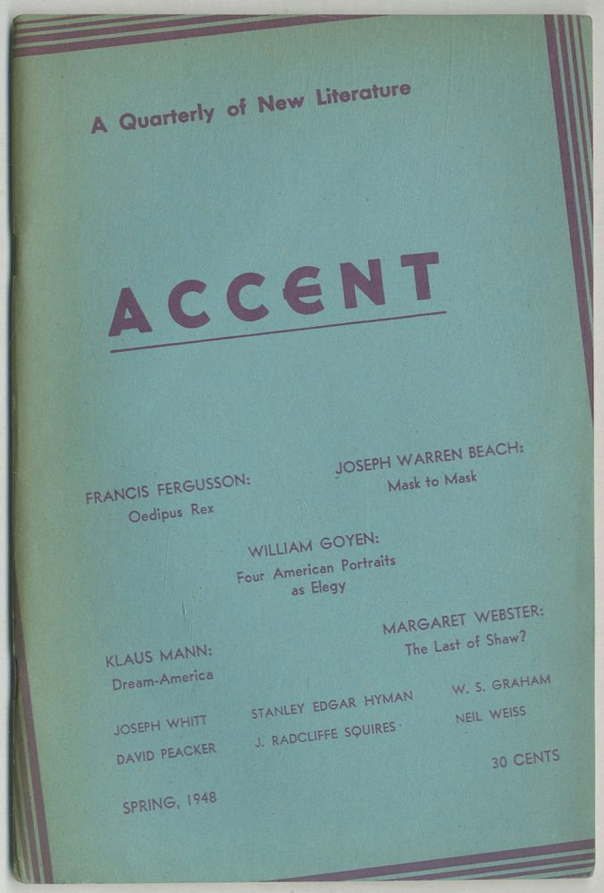 Accent. Spring 1948