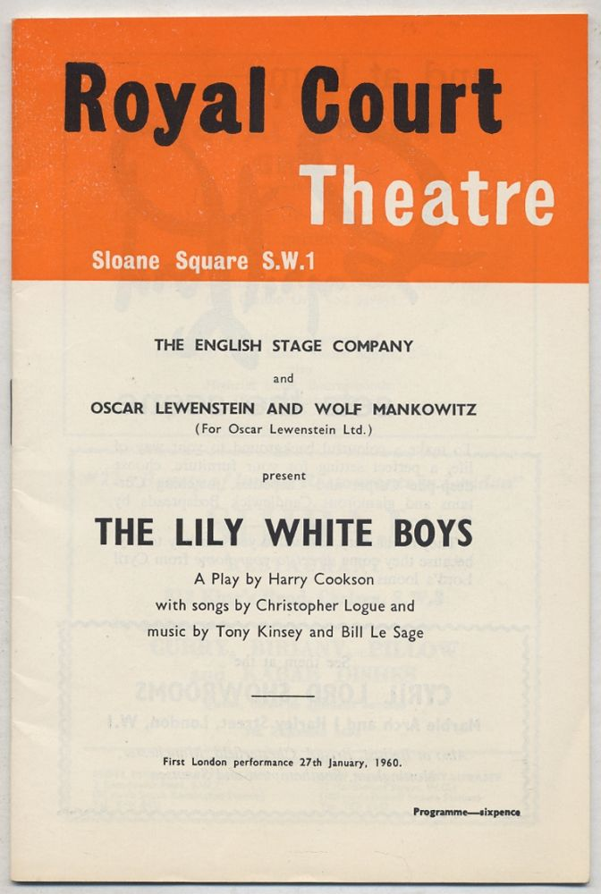 [Program]: The Lily White Boys. Harry COOKSON, Christopher Logue.