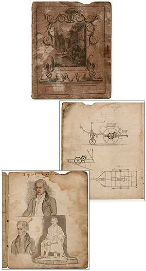 Early 19th-Century Engineer's or Mechanic's Manuscript Notebook