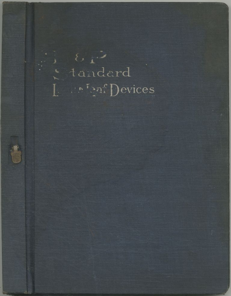 B. & P. Standard Loose Leaf Devices. Catalogue No. 2