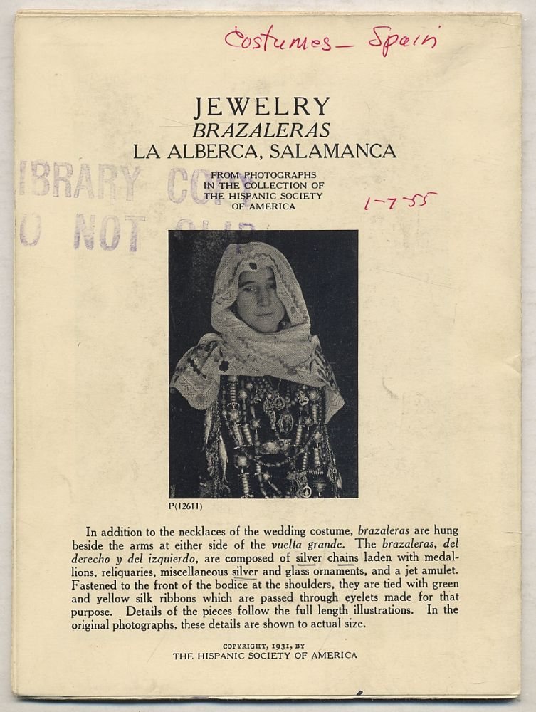 Jewelry: Brazaleras La Alberca, Salamanca: From Photographs in the Collection of The Hispanic Society of America with Comparative Material