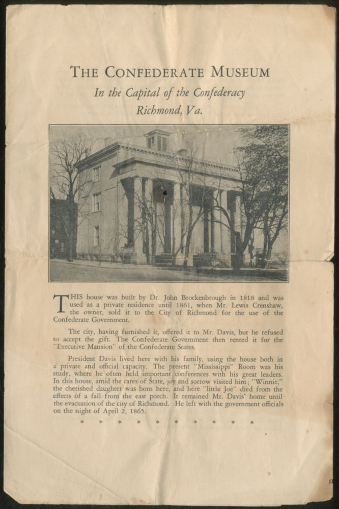The Confederate Museum: In the Capital of the Confederacy