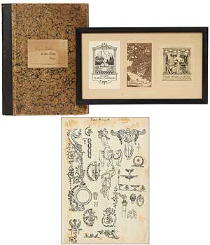 [Archive]: Sketchbook and Bookplates. Hazel CURTISS.