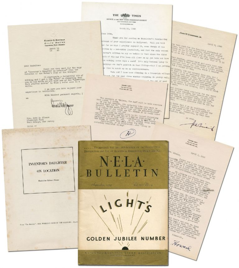 "Archive of Material related to the filming of ""Edison, the Man"" property of Edison's daughter,..."