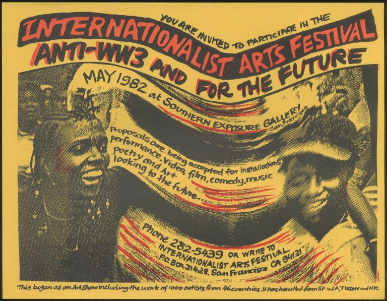 [Flyer]: You are Invited to Participate in the International Arts Festival, Anti-WW3 and for the Future