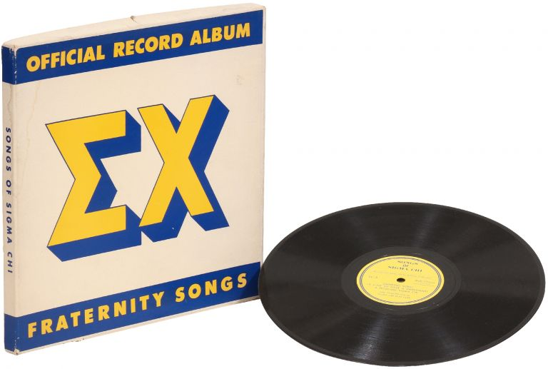 X Fraternity Songs Official Record Album [Sigma Chi]. Jud CONLON, the Sigma Chi Glee Club.