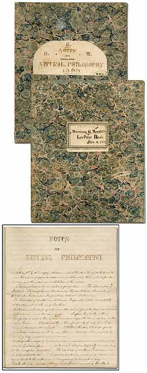 Lectures on Chemistry ... Delivered of Samuel R. Gummere, Esq. [with] Notes on Natural Philosophy. Harrison G. WRIGHT.