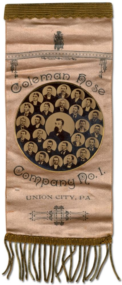 [Photograph on Silk Pin]: Coleman Hose Company No. 1, Union City Pa.